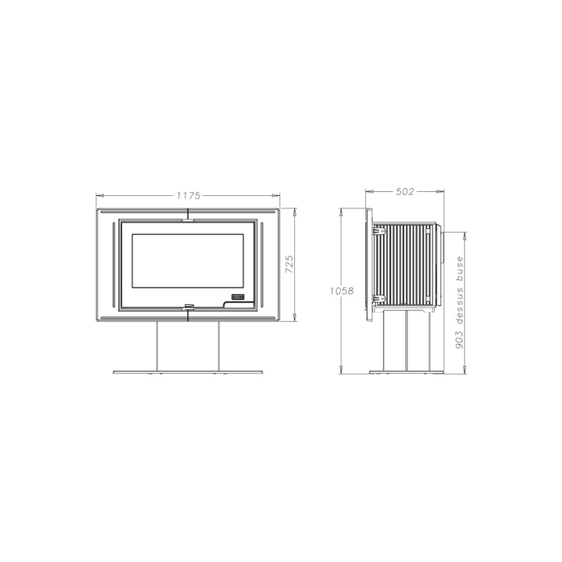 poele a bois godin mouriez obtenez des. Black Bedroom Furniture Sets. Home Design Ideas