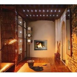 Foyer fermé à bois Laudel 700 PANORAMIQUE RELEVABLE