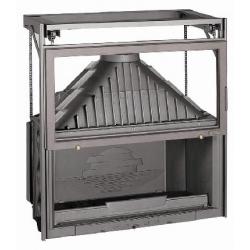 Foyer fermé à bois Laudel 1100 GRANDE VISION RELEVABLE