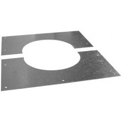 Plaque coupe feu de propreté 25° a 45° pour poêles à bois et granulés