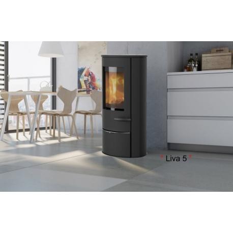 profitez de la chaleur du po le bois scandinave lotus liva 5. Black Bedroom Furniture Sets. Home Design Ideas