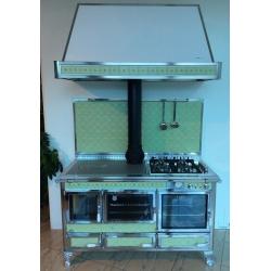 Cuisinière à bois bouilleur Mixte Wekos 360 LGE inox