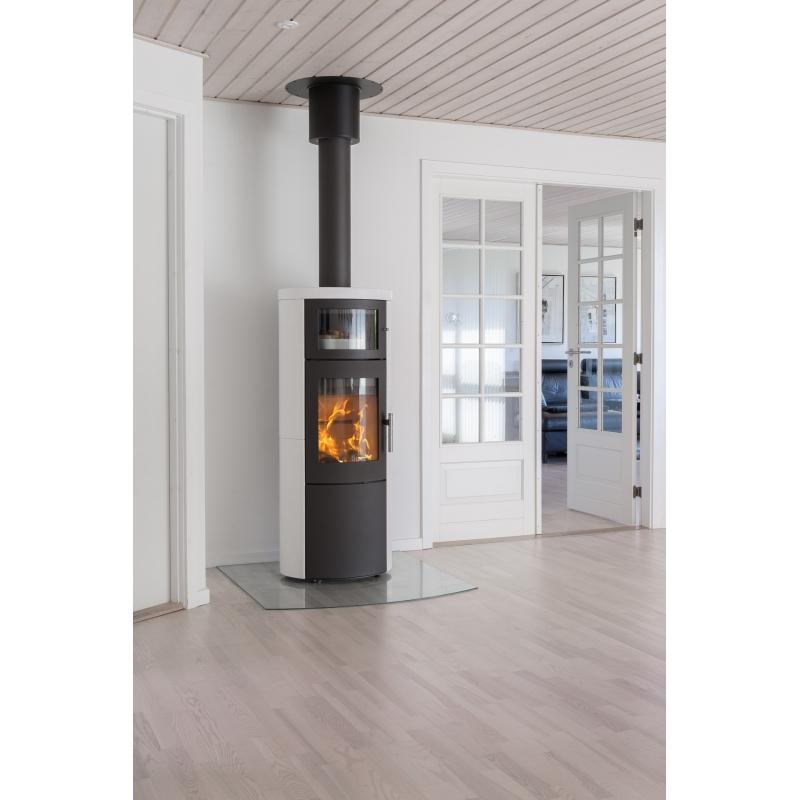 po le bois scandinave heta sca line 820 b avec four garantie 10 ans. Black Bedroom Furniture Sets. Home Design Ideas