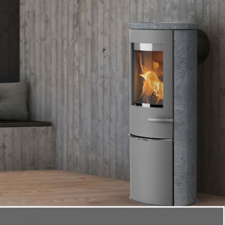 b n ficiez de la chaleur de ce po le bois scandinave lotus liva 6 s. Black Bedroom Furniture Sets. Home Design Ideas