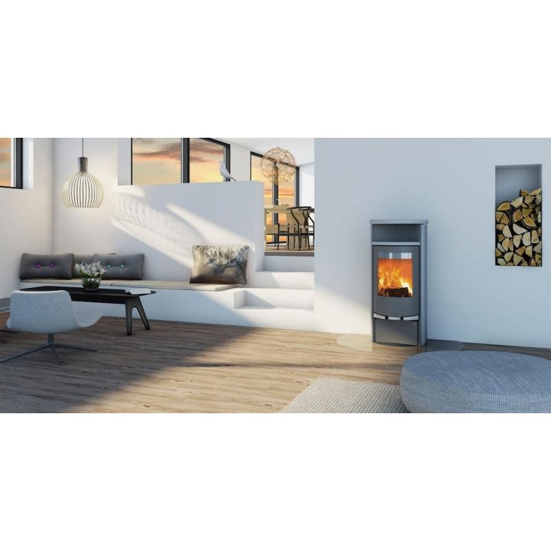 po le bois scandinave lotus 9080 pierre ollaire. Black Bedroom Furniture Sets. Home Design Ideas