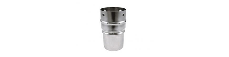 Tuyaux inox flexibles et piéces raccordements pour poêles à granulés