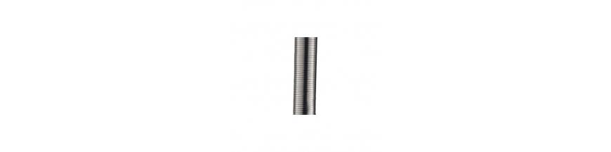 Tuyaux inox flexibles et pièces raccordements pour foyers et inserts