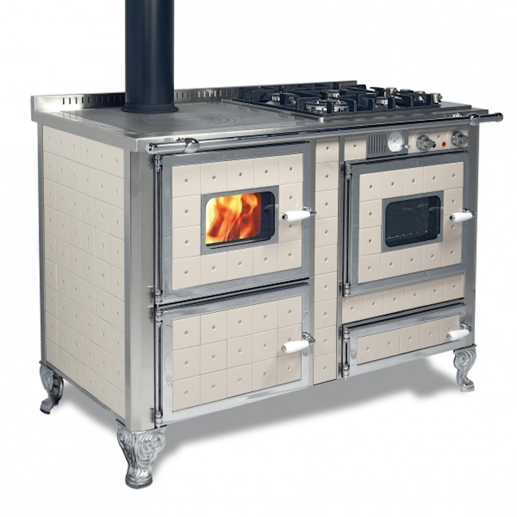 magasin en ligne f8897 7904b Cuisinière à bois bouilleur Mixte Wekos 120 LGE / sF INOX