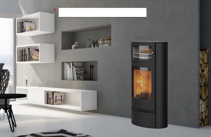 po le bois scandinave lotus jubil e 35 avec four. Black Bedroom Furniture Sets. Home Design Ideas