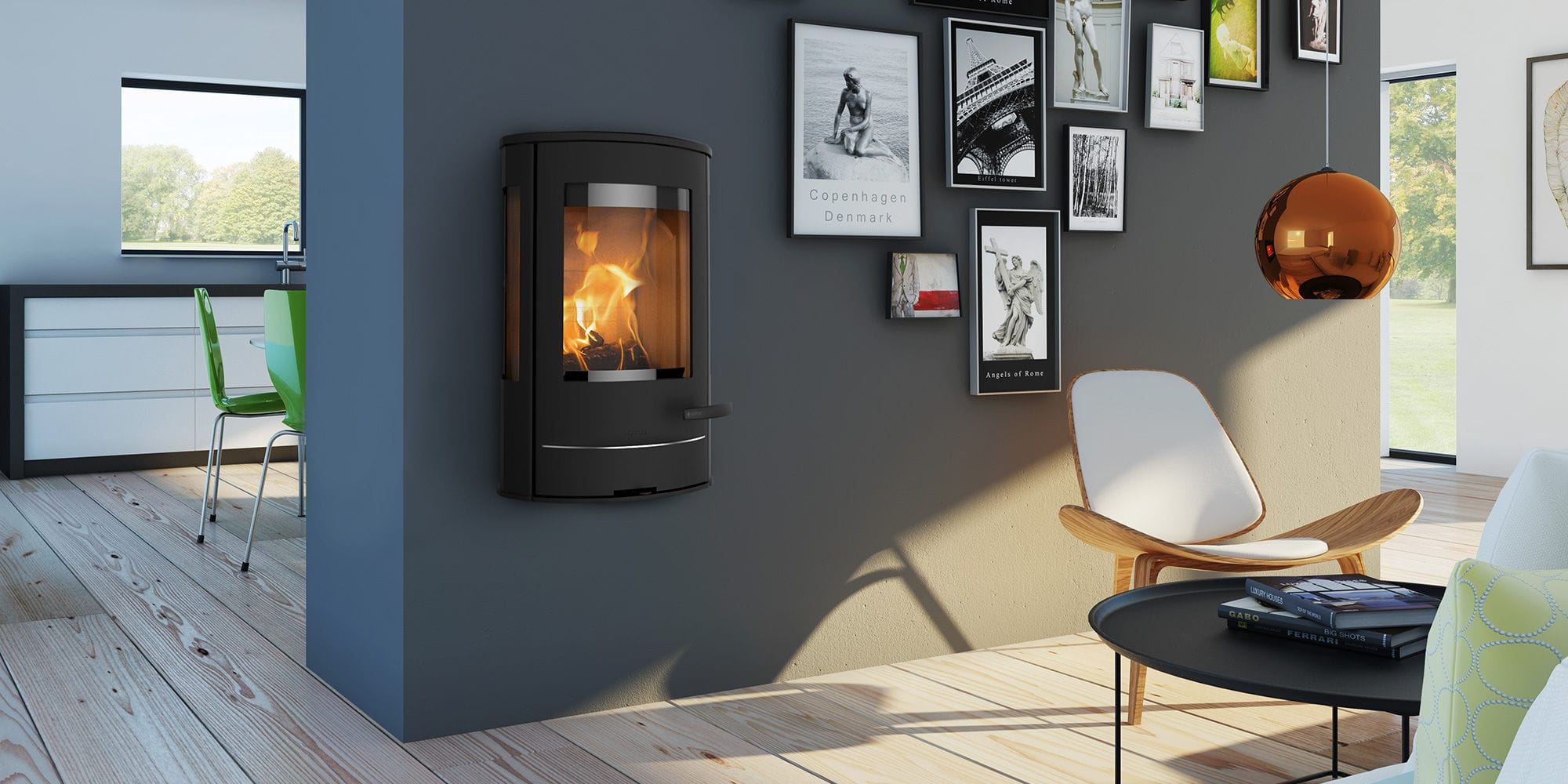 profitez du design du po le bois suspendu scandinave. Black Bedroom Furniture Sets. Home Design Ideas